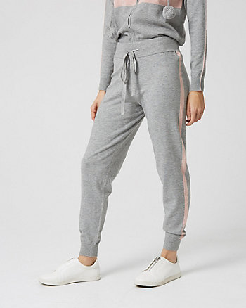 Viscose Blend Side Stripe Track Pant