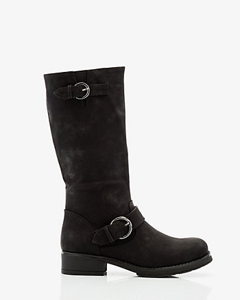 Buckle Knee-High Boot