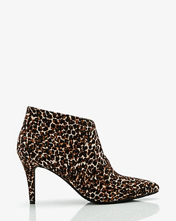 Leopard Print Pointy Toe Ankle Boot
