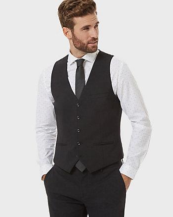 Tropical Wool City Fit Vest