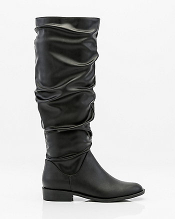 Round Toe Knee-High Slouch Boot