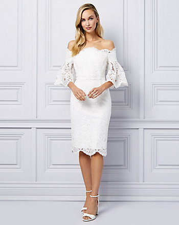 Crochet Lace Off-The-Shoulder Dress