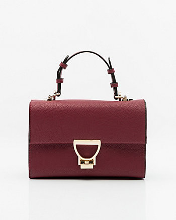 Leather-Like Satchel Bag