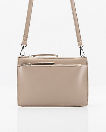 Pebbled Leather-Like Crossbody Bag