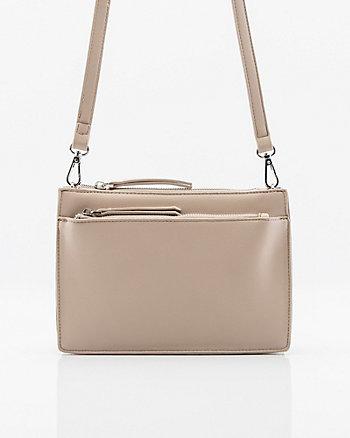 Pebbled Leather-Like Crossbody Bag