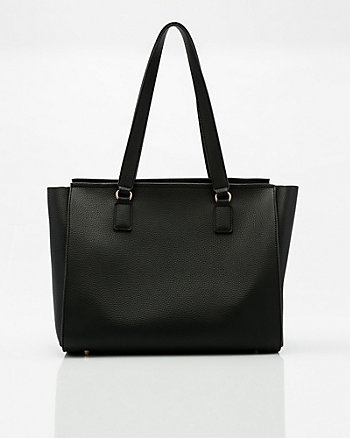 Leather-Like Tote Bag