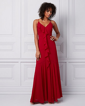 Chiffon Ruffle Gown