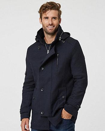 Tonal Wool Twill Car Coat