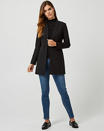 Ponte Notch Collar Relaxed Fit Blazer