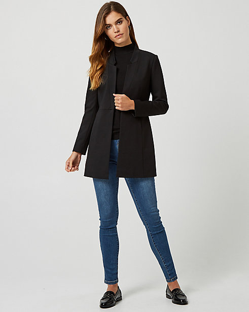 Ponte Notch Collar Relaxed Fit Blazer STYLE: 367655