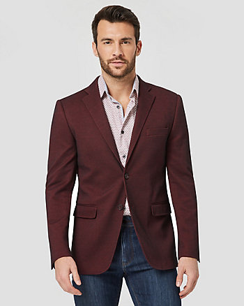 Tonal Knit Contemporary Fit Blazer