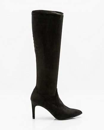 Pointy Toe Knee-High Stretch Boot