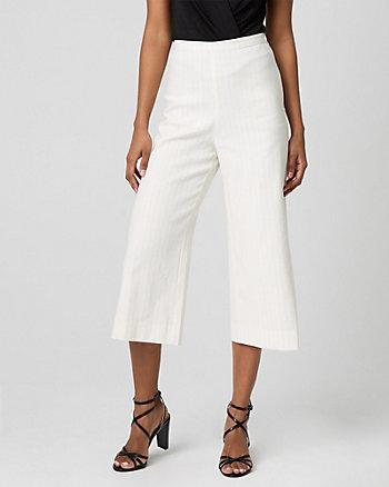 Stripe Linen Blend Culotte