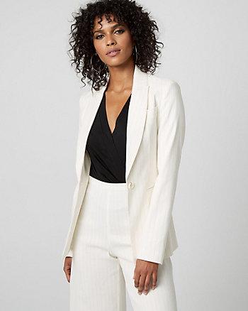 Stripe Linen Blend Blazer