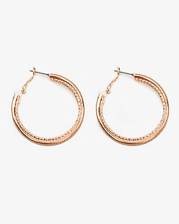 15mm Glitter Hoop Earrings
