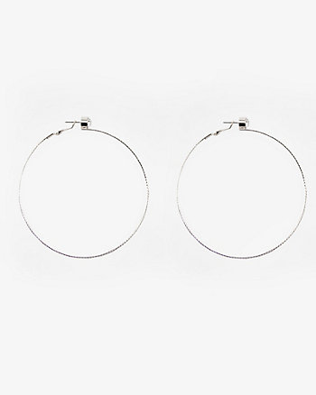63mm Jewel Embellished Hoop Earrings