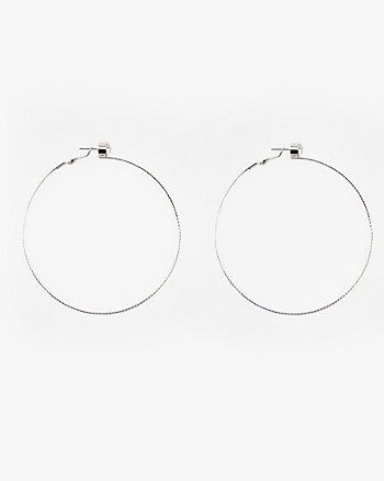 80mm Jewel Embellished Hoop Earrings