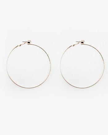 80mm Jewel Embellished Hoop Earrings