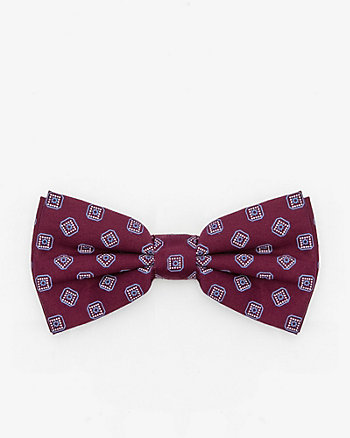 Geo Print Cotton Sateen Bow Tie