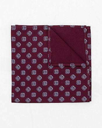 Geo Print Cotton Sateen Pocket Square