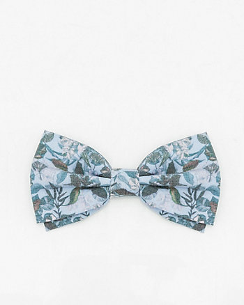 Floral Print Cotton Blend Bow Tie