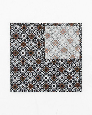 Medallion Print Cotton Pocket Square