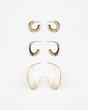 20/30/45mm Metal Hoop Earrings
