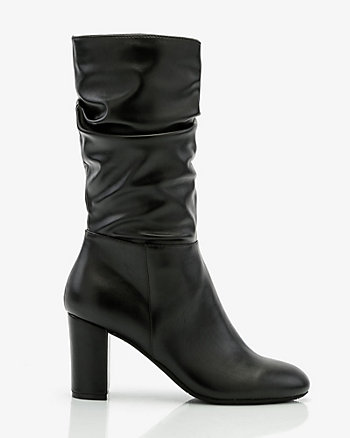 Round Toe Slouch Boot