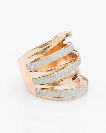 Glitter & Metal Ring