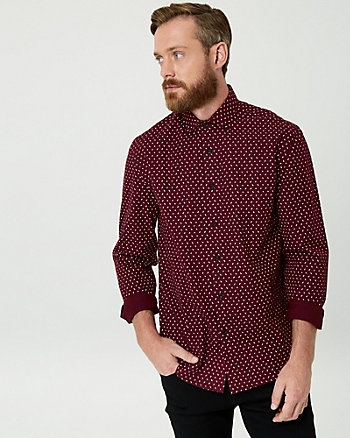 Arrow Print Cotton Tailored Fit Shirt