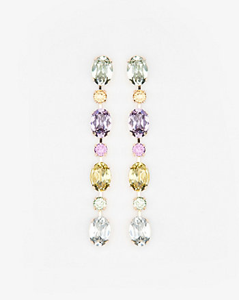 Gem Linear-Drop Earrings
