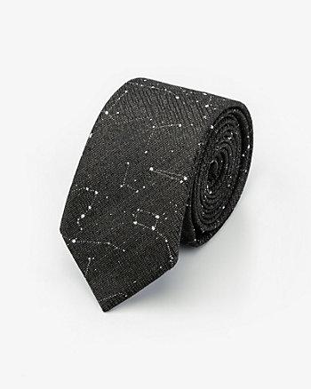 Cravate à motif en mélange de coton