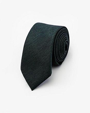 Cravate en coton à motif ton sur ton