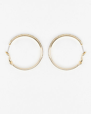 35mm Gem Double Hoop Earrings