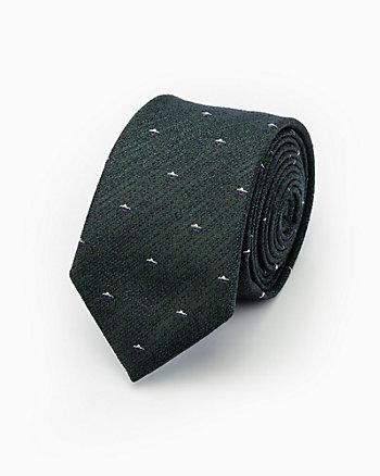 Micro Print Cotton Blend Tie