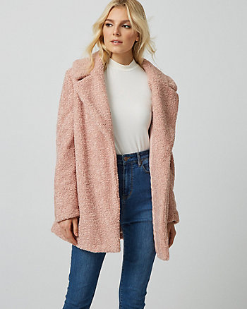 Sherpa Notch Collar Teddy Jacket