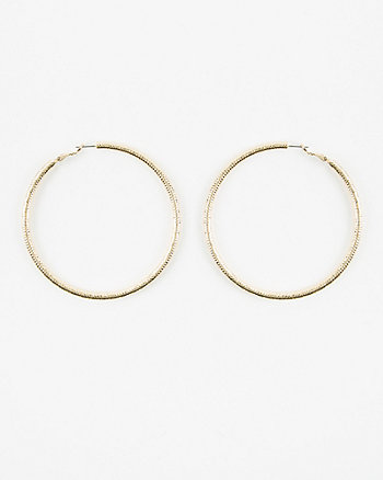 80mm Etched Hoop Earrings