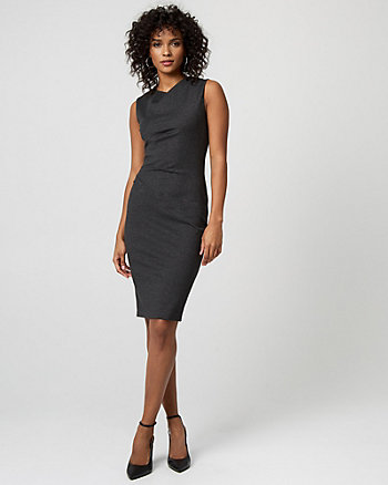 Ponte Knit Crew Neck Dress