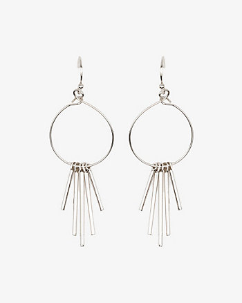 Metal Fringe Drop Earrings