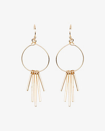 Metal Fringe Drop Earrings