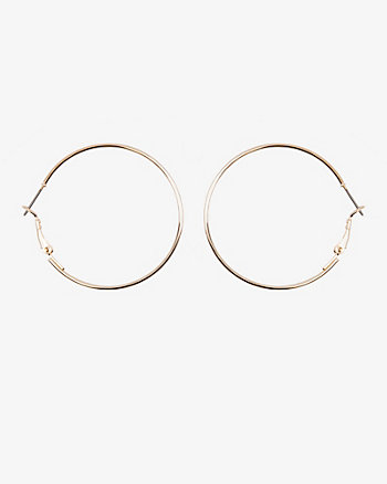 30mm Metal Hoop Earrings