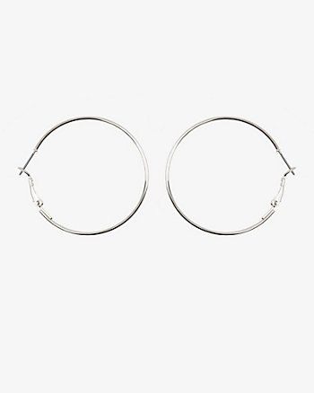 40mm Metal Hoop Earrings