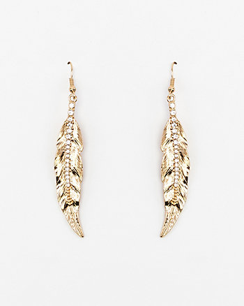 Gem Leaf Earrings