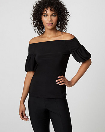 Knit Off-the-Shoulder Top