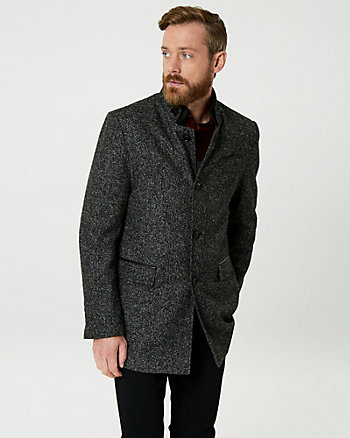 Bouclé Notch Collar Car Coat