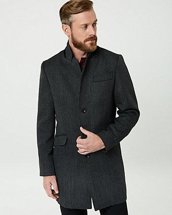 Woven Mock Neck Coat
