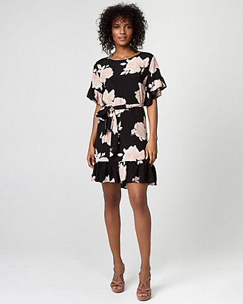 Floral Print Viscose Tunic Dress