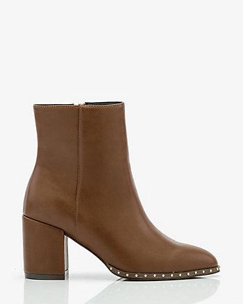 Studded Pointy Toe Ankle Boot