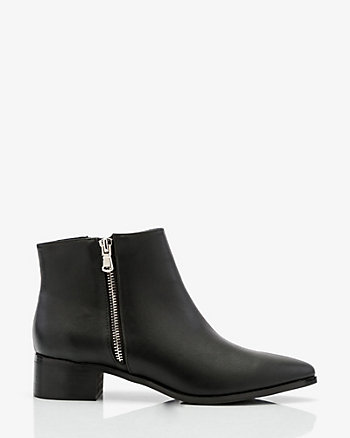 Pointy Toe Zip Ankle Boot