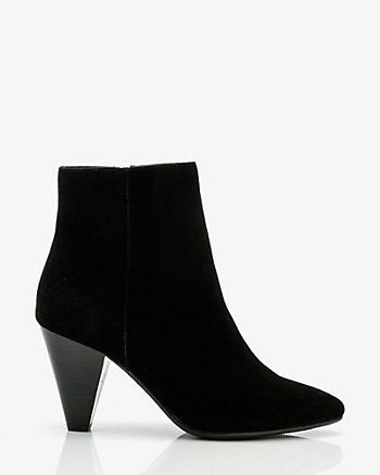 Suede Pointy Toe Ankle Boot